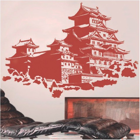 Vinilos Decorativos -  Castillo Japones