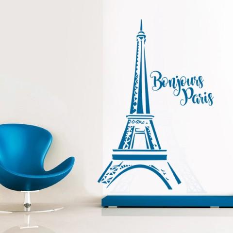Vinilos Decorativos -  Bonjour Paris