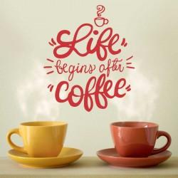 Vinilos Decorativos - Life begins after coffee
