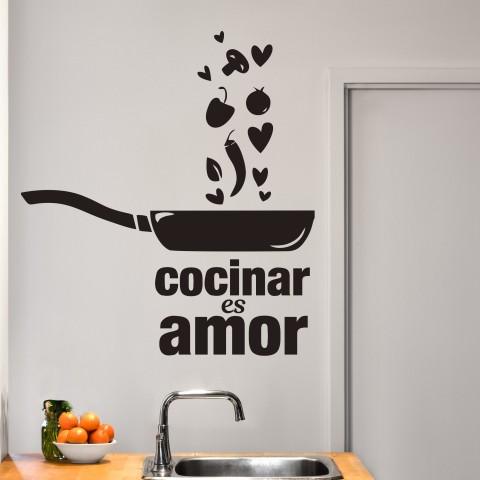 Vinilos Decorativos - Cocinar es amor