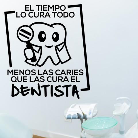 Vinilos Decorativos - Las caries las cura el dentista