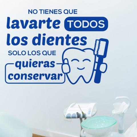 Vinilos Decorativos - Lavarte los dientes
