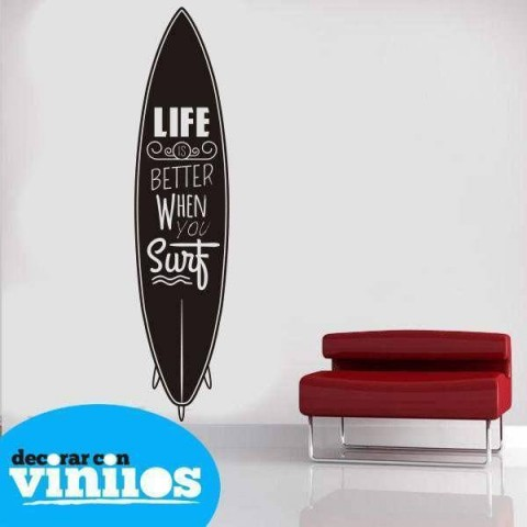 Vinilos de Frases - When you Surf