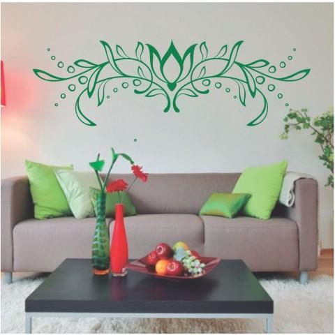 Vinilos Decorativos - Flor Loto abstracta