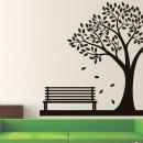 Vinilos Decorativos - Arbol con un banco