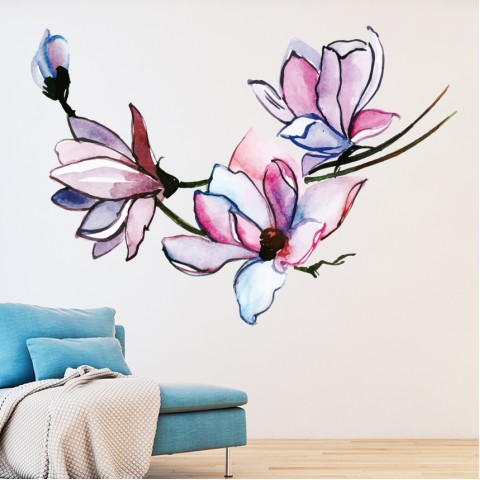 Vinilos Decorativos - Flores acuarela