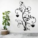Vinilos Decorativos - Flor corazones