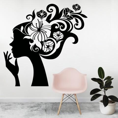 Vinilos Decorativos - Chica con flores