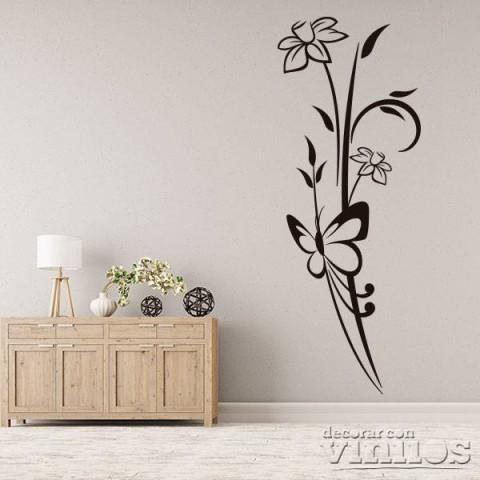 Vinilos Decorativos - Mariposa en flor