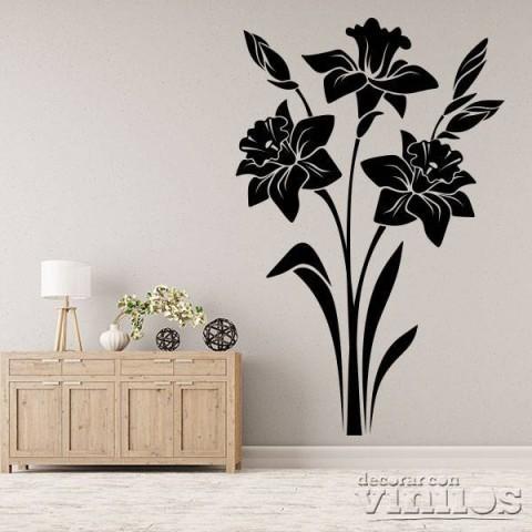 Vinilos Decorativos - 3 flores