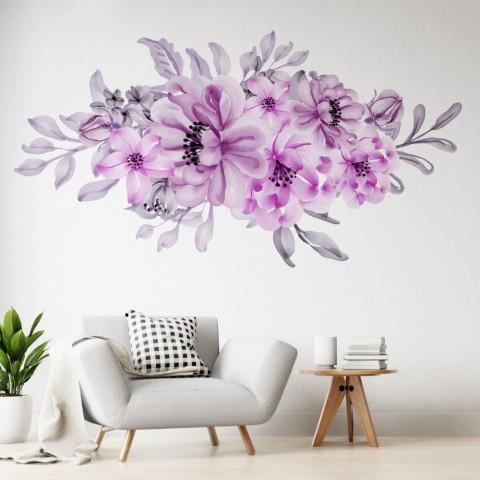 Vinilos Decorativos - Flores violestas pastel