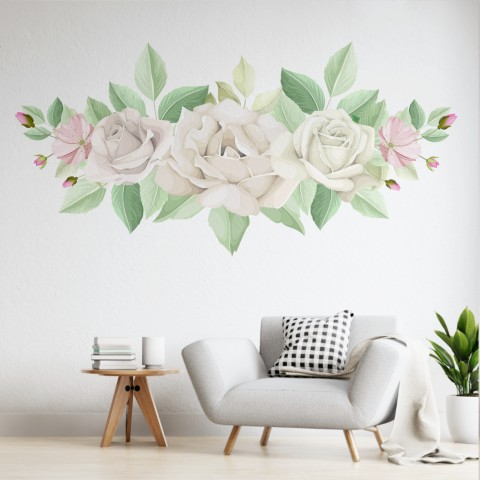 Vinilos Decorativos - Rosas blancas