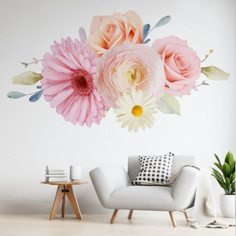 Vinilos Decorativos - Flores color pastel