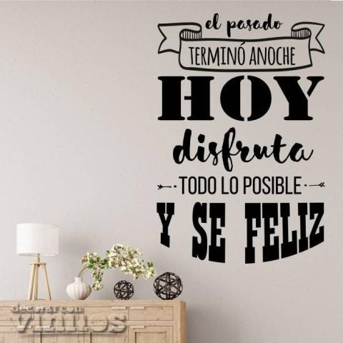 Vinilos de Frases - Hoy es otro día