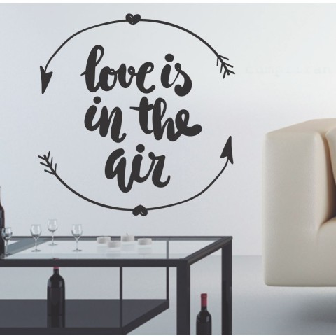 Vinilos de Frases - Love is in the air