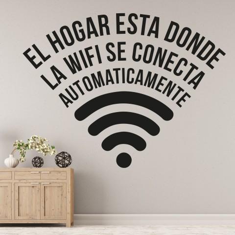 Vinilos de Frases - El wifi se conecta
