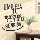 """Vinilos de Frases - """"Empieza tu mañana con una sonrisa"""""""