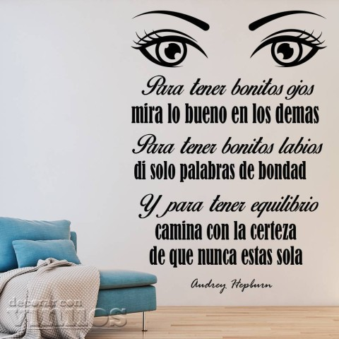 Vinilos de Frases - Ojos bonitos