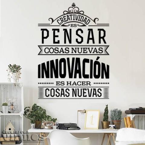 Vinilos de Frases - Creatividad vs Innovación