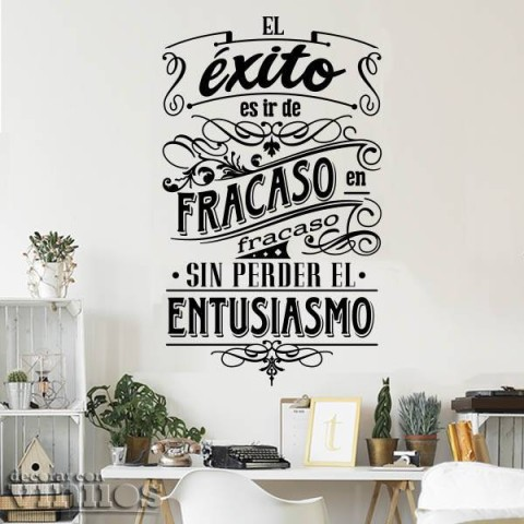 Vinilos de Frases - El éxito es...