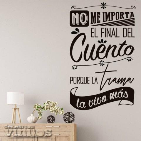 Vinilos de Frases - La trama la vivo más