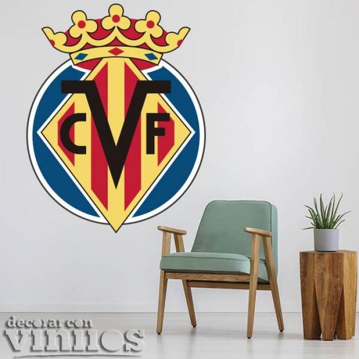 Vinilos Decorativos - Escudo Villarreal a color