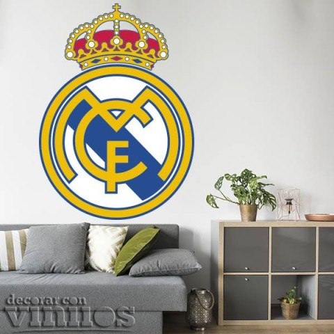 Vinilos Decorativos - Escudo Real Madrid Color