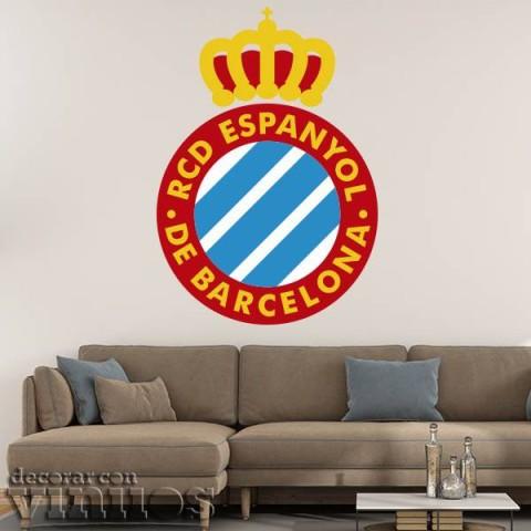 Vinilos Decorativos - Escudo RCD Espanyol color