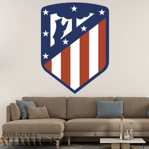 Vinilos Decorativos - Escudo Atlético de Madrid Color
