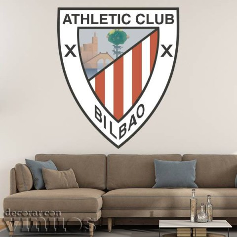 Vinilos Decorativos - Escudo Athletic Bilbao Color