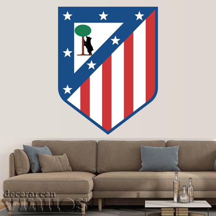 Vinilos Decorativos - Escudo Atlético de Madrid Color Antiguo