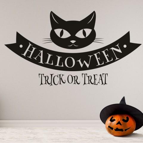 Vinilos Decorativos - Halloween Gato