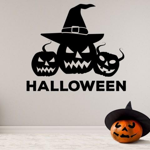 Vinilos Decorativos - Halloween Calabaza Bruja