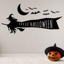 Vinilos Decorativos - Halloween Bruja Volando