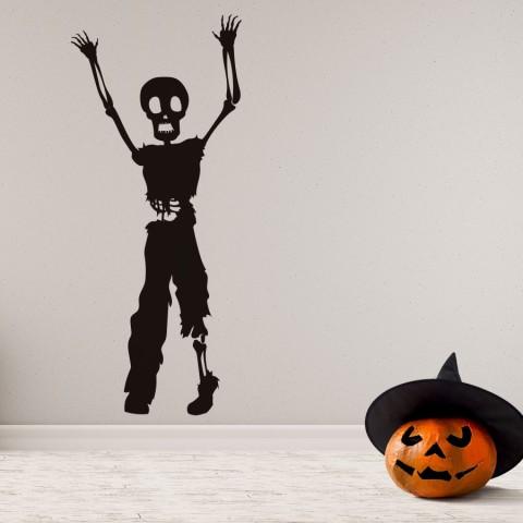 Vinilos Decorativos - Halloween Calavera Manos Arriba