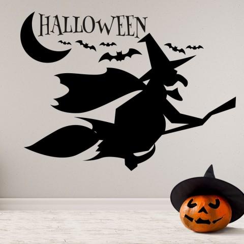 Vinilos Decorativos - Halloween Bruja Escoba