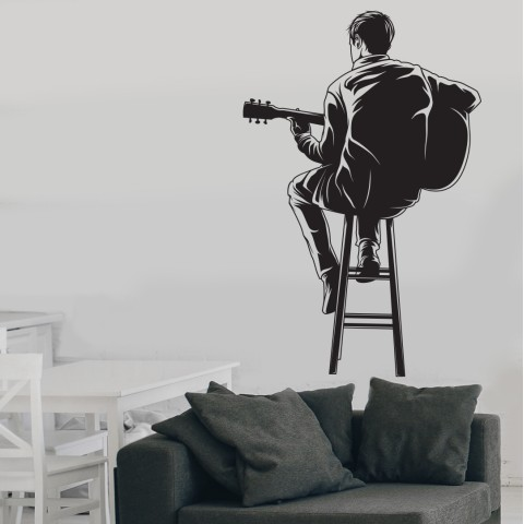 Vinilos Decorativos - Guitarrista 3