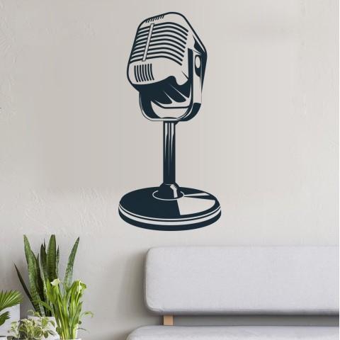 Vinilos Decorativos - Microfono retro