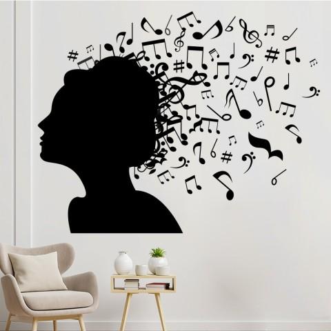 Vinilos Decorativos - Silueta musical