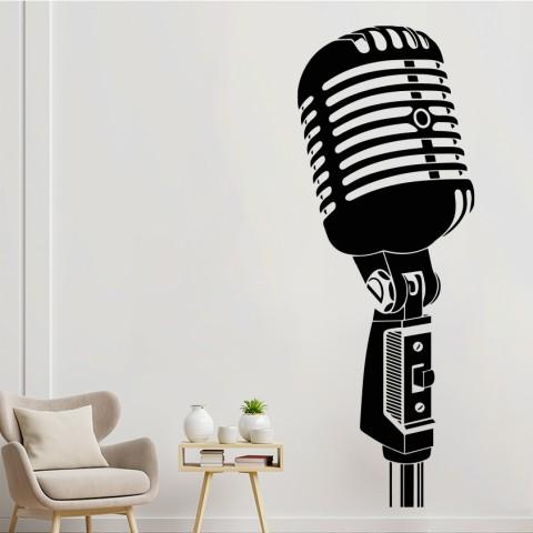 Vinilos Decorativos - Micrófono