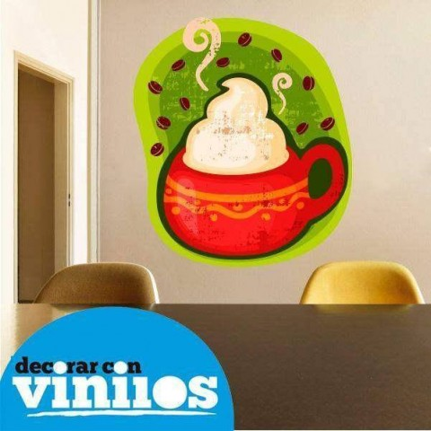 Vinilo Decorativo - Taza de cafe 3