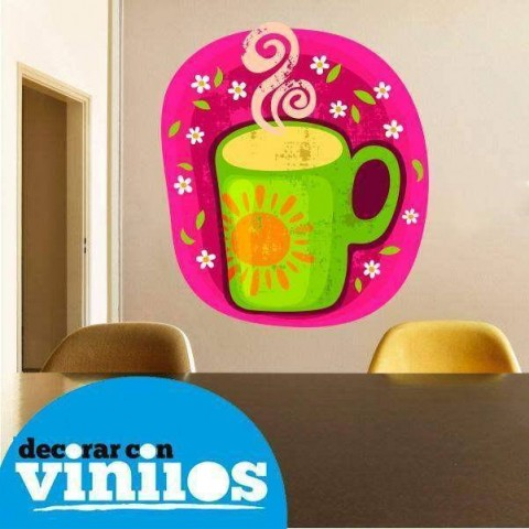 Vinilo Decorativo - Taza de cafe 4