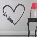 Vinilos Decorativos - Flecha corazón