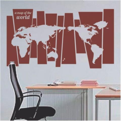 Vinilos Decorativos - Mapa con rectangulos