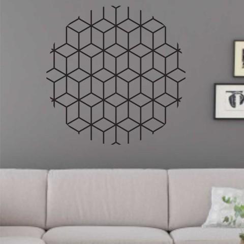 Vinilos Decorativos - Circulo Cubos