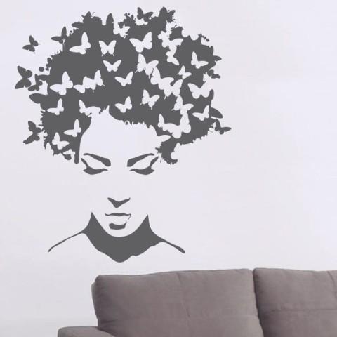 Vinilos Decorativos - Cabeza Mariposa