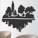 Vinilos Decorativos - Bosque vs Ciduad