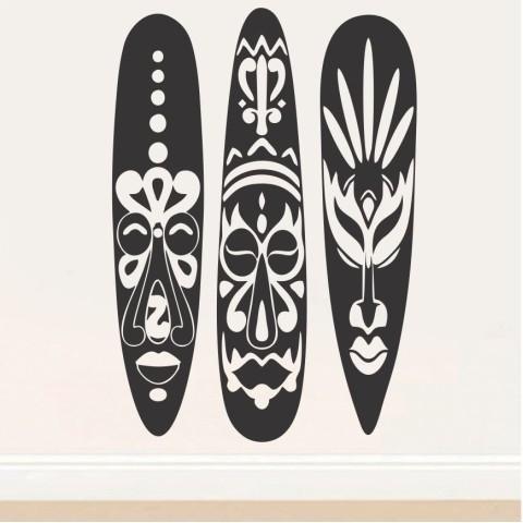 Vinilos Decorativos - Mascaras Africanas
