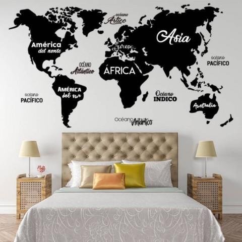 Vinilos Decorativos - Mapa Mundi