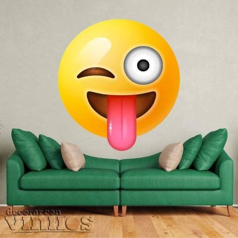 Emoji Guiño con Lengua